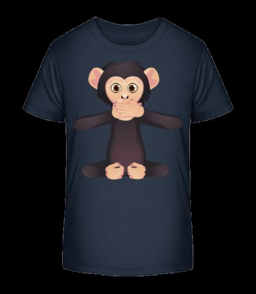 Mute Monkey - Kid's Premium Bio T-Shirt - Navy - Vorn