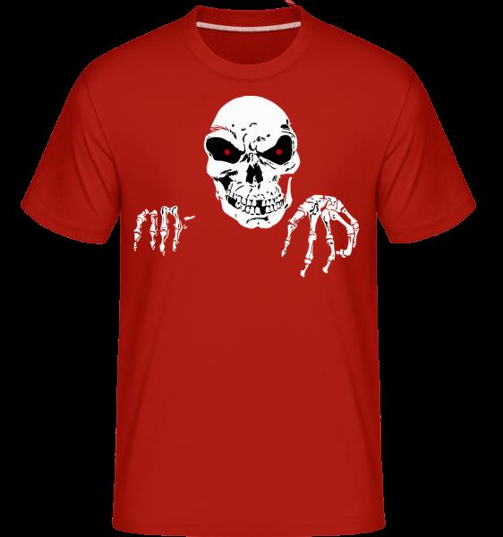 Creepy Death -  Shirtinator Men's T-Shirt - Red - Vorn