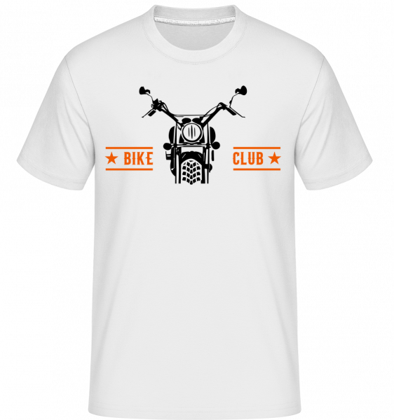 Bike Club - Shirtinator Men's T-Shirt - White - Vorn