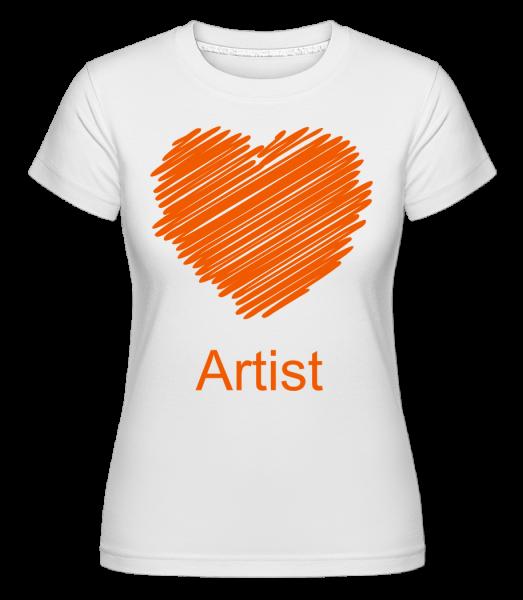 Artist Heart -  Shirtinator Women's T-Shirt - White - Vorn