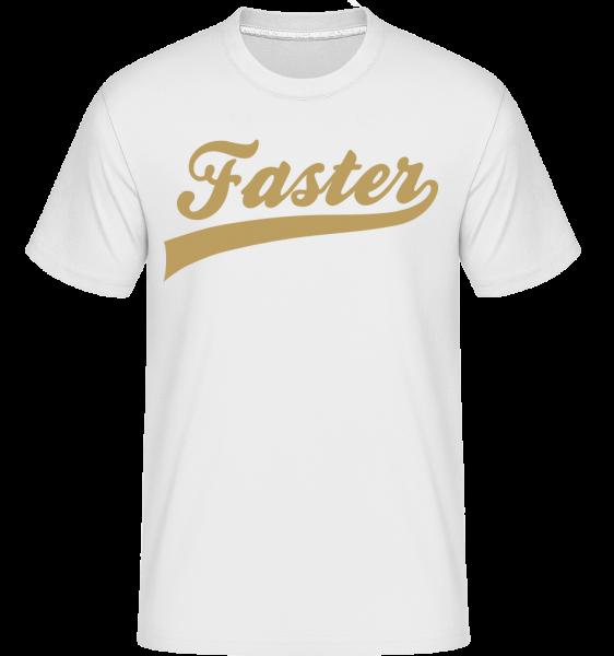 Faster Stroke -  Shirtinator Men's T-Shirt - White - Vorn