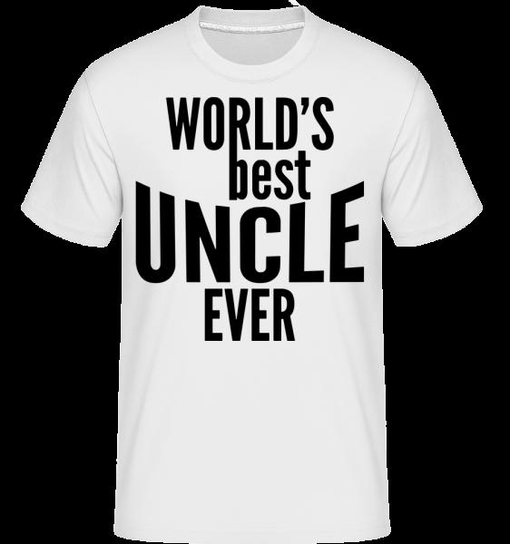 World's Best Uncle Ever - Shirtinator Men's T-Shirt - White - Vorn