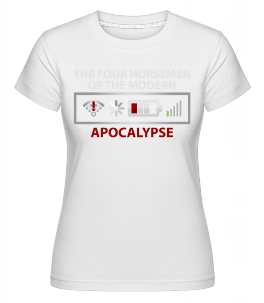 Modern Apocalypse -  Shirtinator Women's T-Shirt - White - Vorn