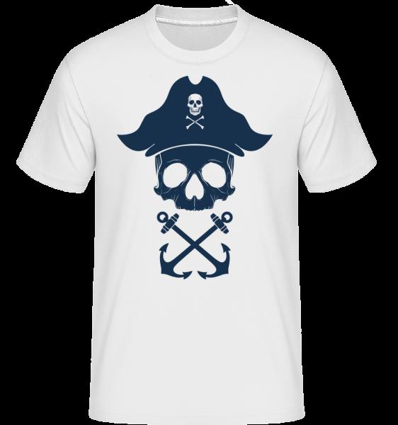 Pirate Skull -  Shirtinator Men's T-Shirt - White - Vorn
