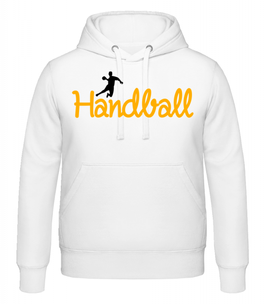 Handball Logo Player - Hoodie - White - Vorn