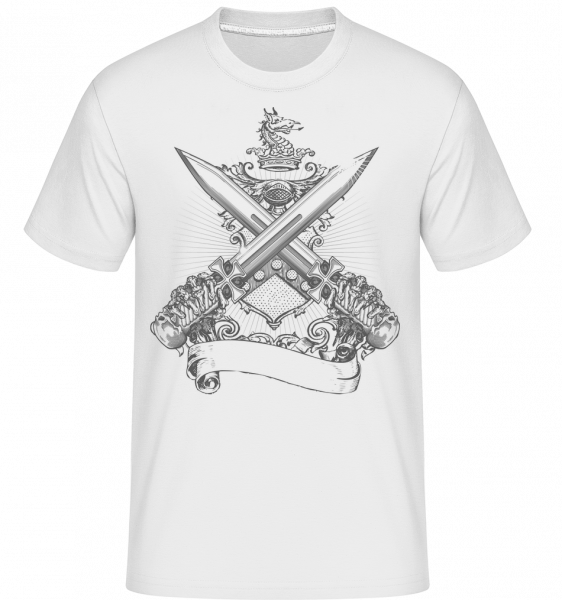 Cross Swords - Shirtinator Men's T-Shirt - White - Vorn