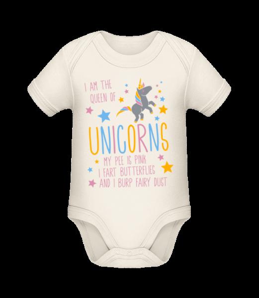 I'm The Queen Of Unicorns - Organic Baby Body - Cream - Vorn