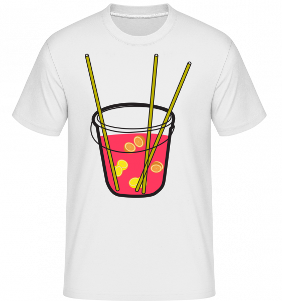 Sangria - Shirtinator Men's T-Shirt - White - Vorn
