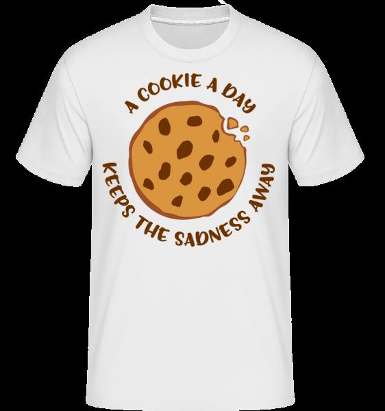 A Cookie A Day -  Shirtinator Men's T-Shirt - White - Vorn