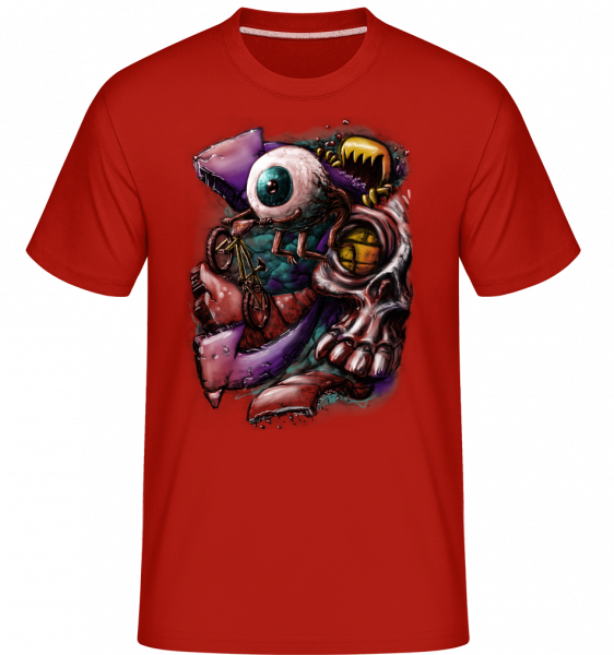Eye flight - Shirtinator Men's T-Shirt - Red - Vorn