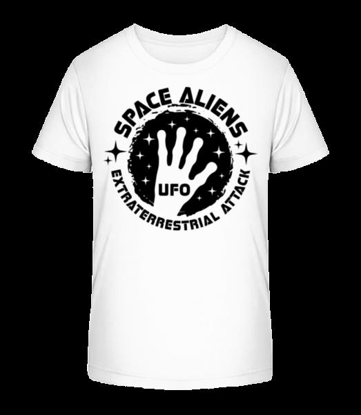 Space Aliens Ufo - Kid's Premium Bio T-Shirt - White - Vorn