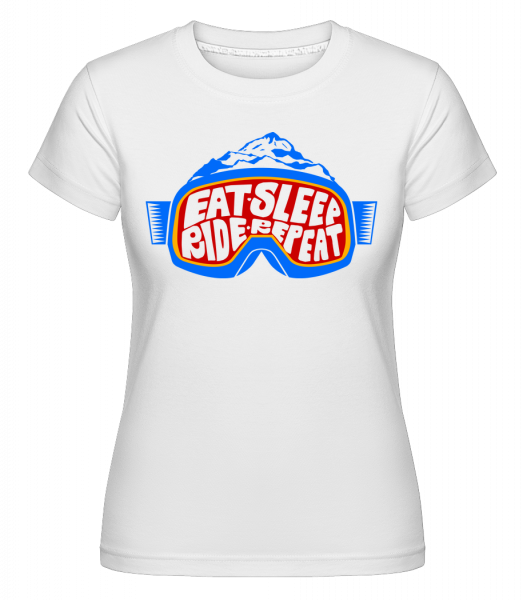 Eat Sleep Ride Repeat - Shirtinator Women's T-Shirt - White - Vorn