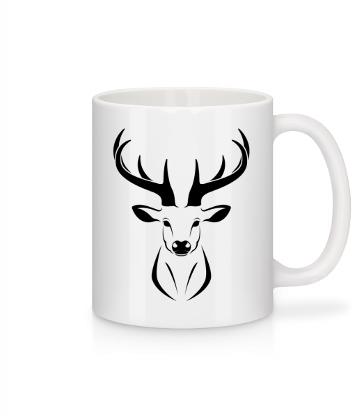 Deer - Mug - White - Vorn