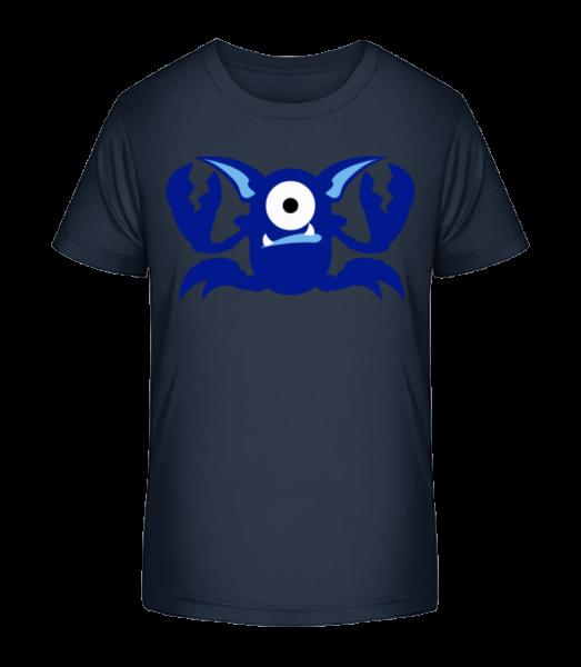 Crab Monsters - Kid's Premium Bio T-Shirt - Navy - Vorn