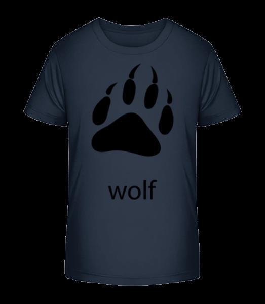 Wolf Paw - Kid's Premium Bio T-Shirt - Navy - Vorn