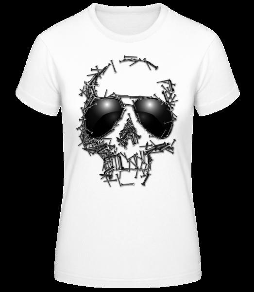 Skull Of Nails - Women's Basic T-Shirt - White - Vorn