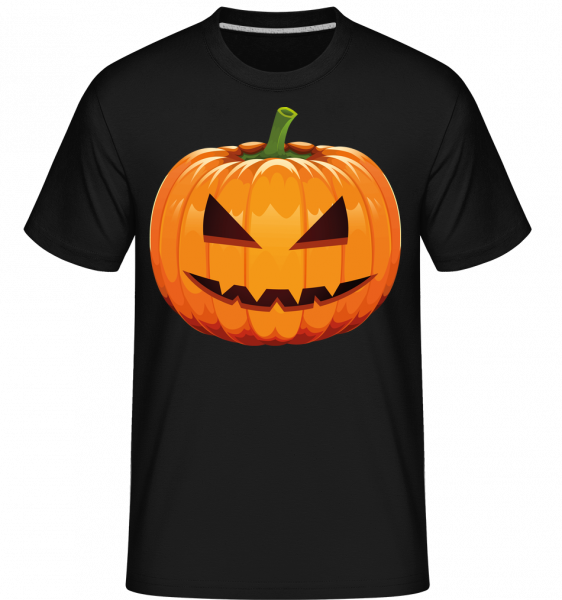 Grinning Pumpkin -  Shirtinator Men's T-Shirt - Black - Vorn