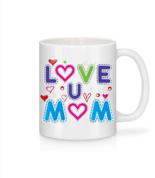 Mom Love - Mug - White - Vorn