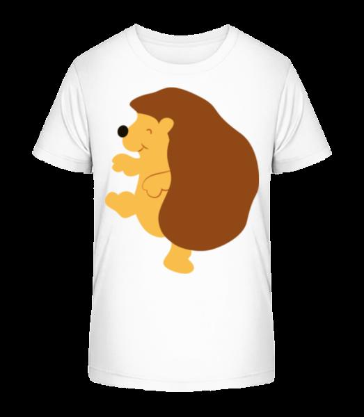 Kids Comic - Hedgehog - Kid's Premium Bio T-Shirt - White - Vorn