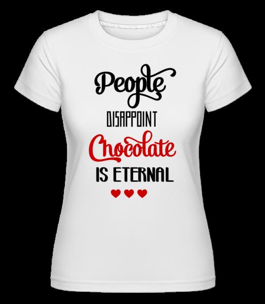 Chocolate Is Eternal - Shirtinator Women's T-Shirt - White - Vorn