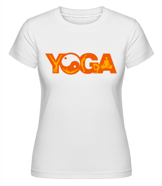 Yoga Sign Orange - Shirtinator Women's T-Shirt - White - Vorn