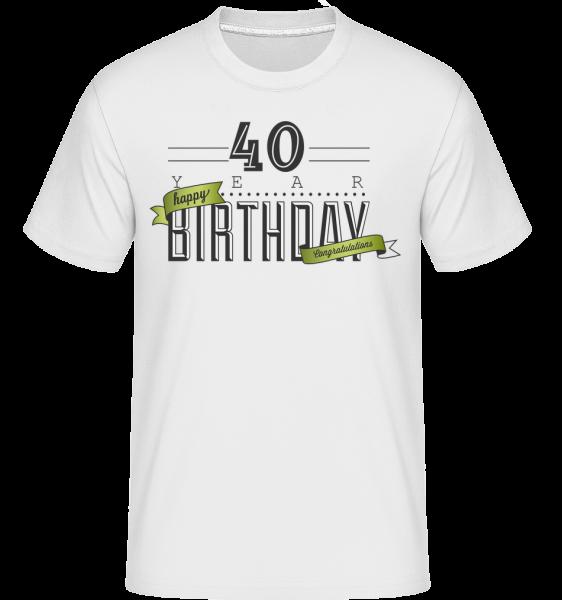40 Birthday Sign -  Shirtinator Men's T-Shirt - White - Vorn