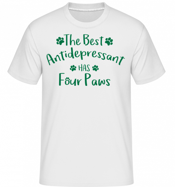 The Best Antidepressant - Shirtinator Men's T-Shirt - White - Vorn
