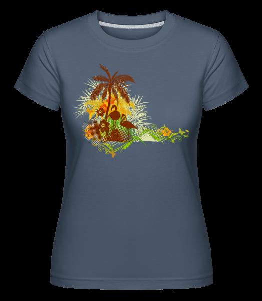 Summer Icon -  Shirtinator Women's T-Shirt - Denim - Vorn