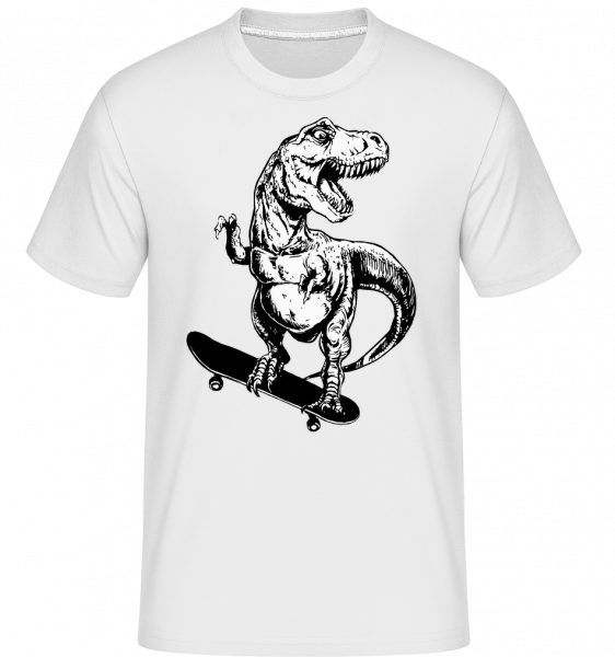 T-Rex Skater - Shirtinator Men's T-Shirt - White - Vorn