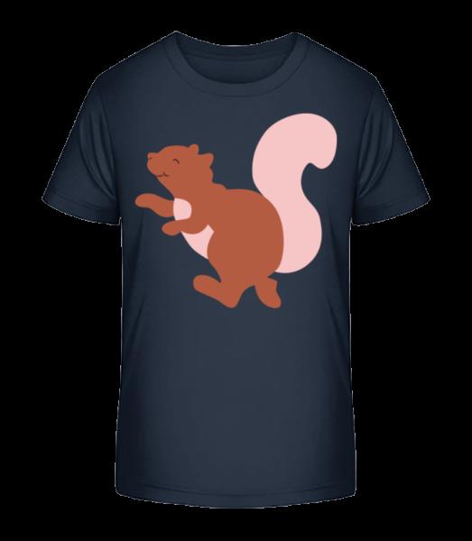 Kids Comic - Squirrel - Kid's Premium Bio T-Shirt - Navy - Vorn