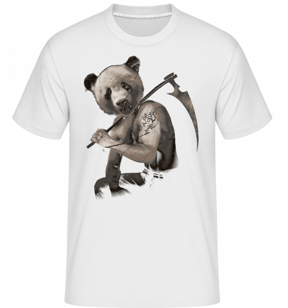 Scythe Panda -  Shirtinator Men's T-Shirt - White - Vorn