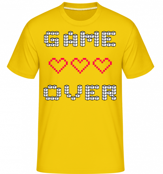 Game Over Hearts Sign - Shirtinator Men's T-Shirt - Golden yellow - Vorn