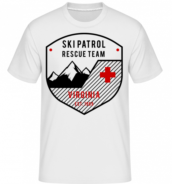 Ski Patrol Sign -  Shirtinator Men's T-Shirt - White - Vorn
