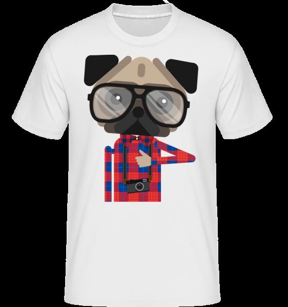 Nerdy Dog - Shirtinator Men's T-Shirt - White - Vorn
