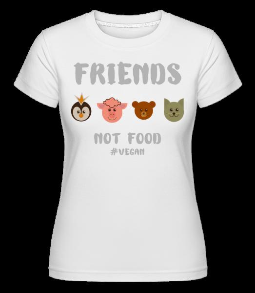 Friends Not Food -  Shirtinator Women's T-Shirt - White - Vorn