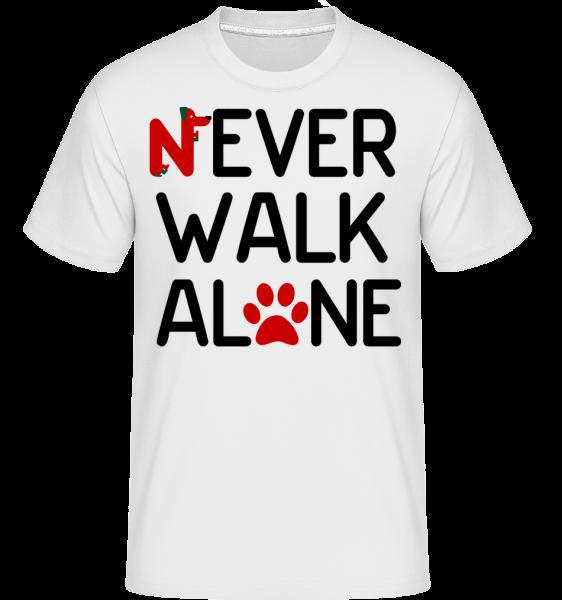 Never Walk Alone -  Shirtinator Men's T-Shirt - White - Vorn