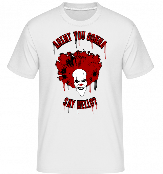 Aren't You Gonna Say Hello? -  Shirtinator Men's T-Shirt - White - Vorn
