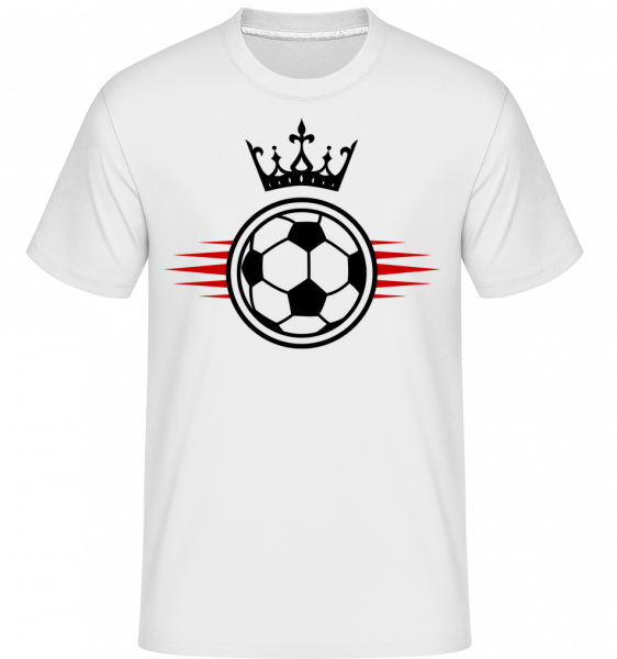 Football Crown - Shirtinator Men's T-Shirt - White - Vorn