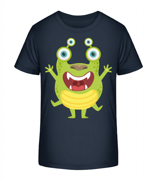 Alien Frog - Kid's Premium Bio T-Shirt - Navy - Vorn