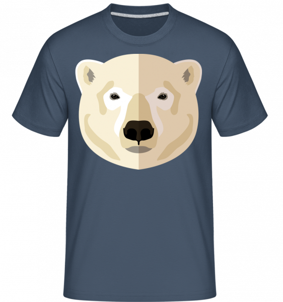 Polar Bear Comic Shadow - Shirtinator Men's T-Shirt - Denim - Vorn