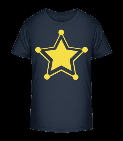 Star Icon Yellow - Kid's Premium Bio T-Shirt - Navy - Vorn