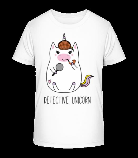 Detective Unicorn - Kid's Premium Bio T-Shirt - White - Vorn