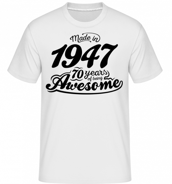 Made In 1947 - Shirtinator Men's T-Shirt - White - Vorn