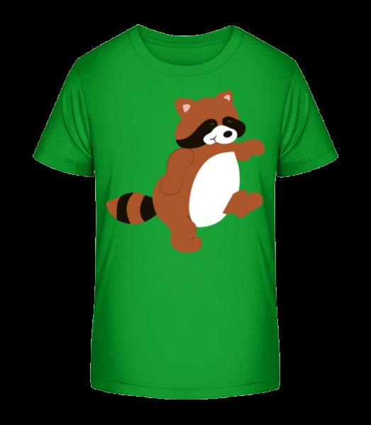 Kids Comic - Racoon - Kid's Premium Bio T-Shirt - Green - Vorn
