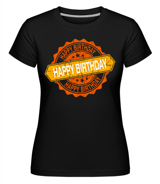 Happy Birthday Logo - Shirtinator Women's T-Shirt - Black - Vorn