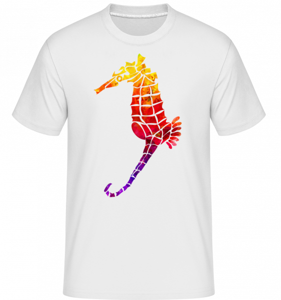 Rainbow Seahorse -  Shirtinator Men's T-Shirt - White - Vorn