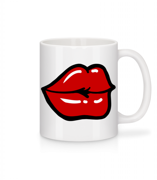 Red Lips - Mug - White - Vorn