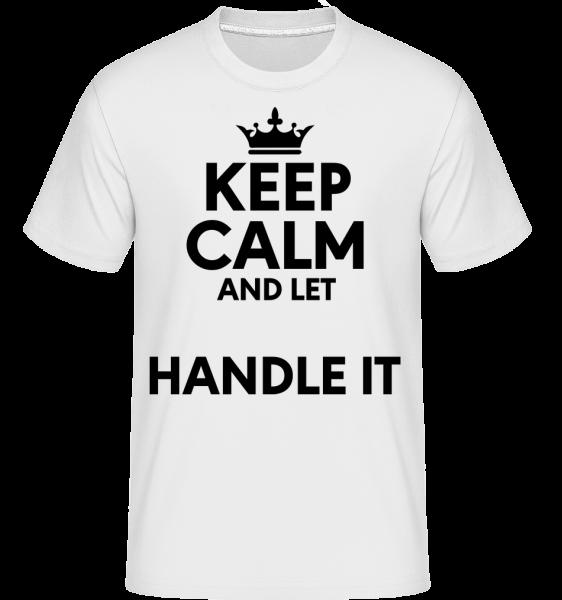 Keep Calm -  Shirtinator Men's T-Shirt - White - Vorn