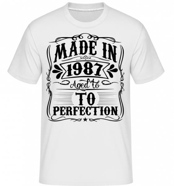 Aged To Perfektion - Shirtinator Men's T-Shirt - White - Vorn