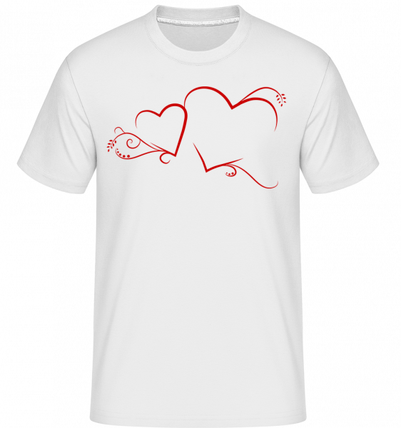 Hearts -  Shirtinator Men's T-Shirt - White - Vorn